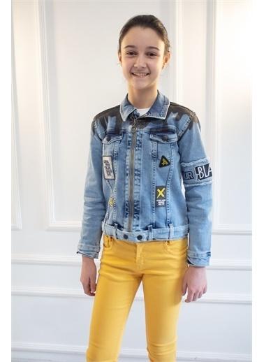 Mutlu Kids Jean Ceket Mavi